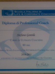 Diploma di Professional Coach Stefano Gentile